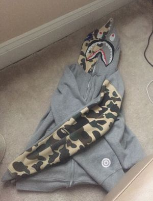 Authentic World Gone Mad Grey/Camo Bape Jacket for Sale in Rockville, MD