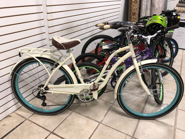 "e2a805615f7 26"" Schwinn Fairhaven women's 7 speed Cruiser Bike cream for Sale in  Conyers, GA - OfferUp"