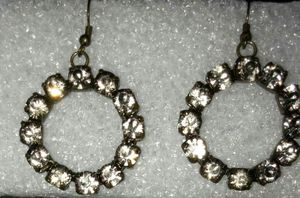 Antique look, pierced hoop filled with gem stons for Sale in Capitol Heights, MD