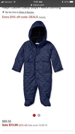 Ralph Lauren Down Coat Sz 3M for Sale in Springfield, VA
