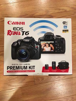 Canon eos rebel t6 slr camera kit for Sale in Sterling, VA