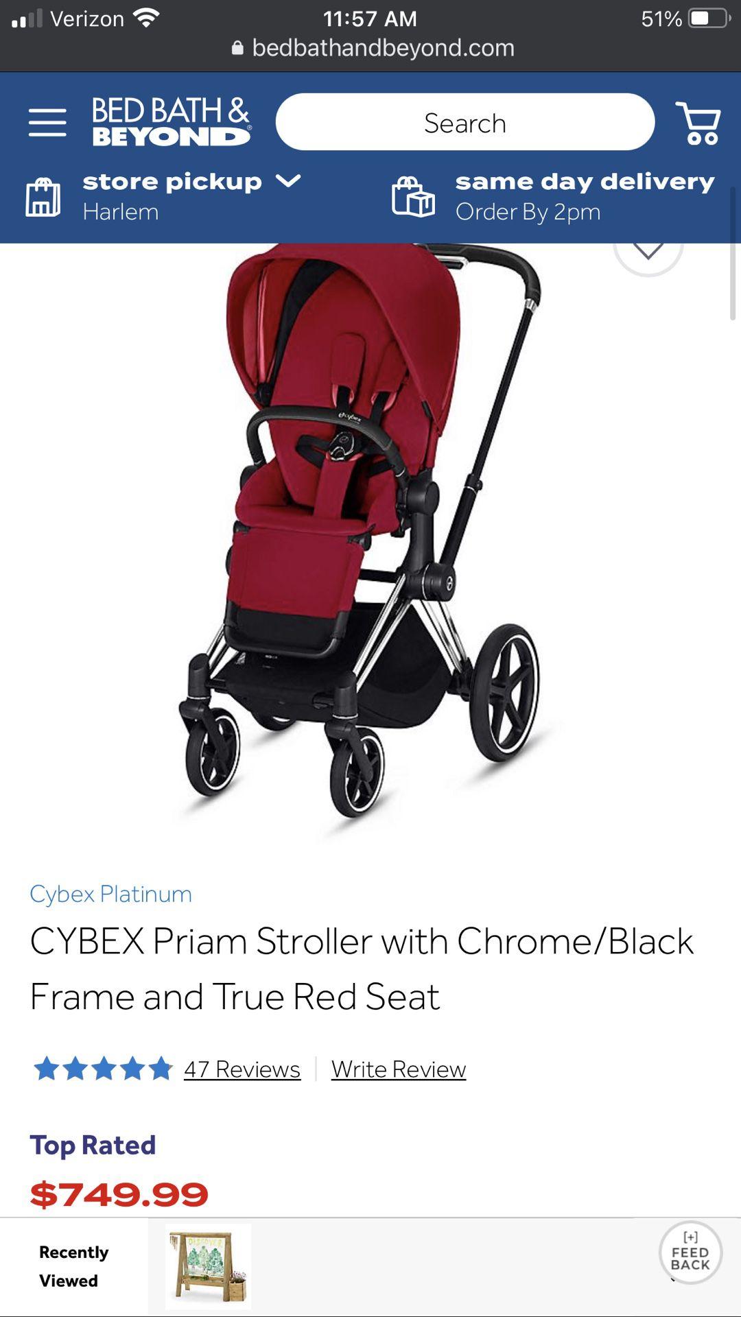 Cybex Priam stroller and Anton Infant Car seat Bundle