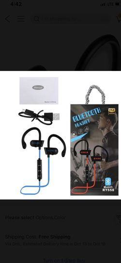 Wireless Bluetooth Sport Headphones Works Handsfree for Phone Calls and Music Compatible w/ iPhone, Samsung and all Android Thumbnail