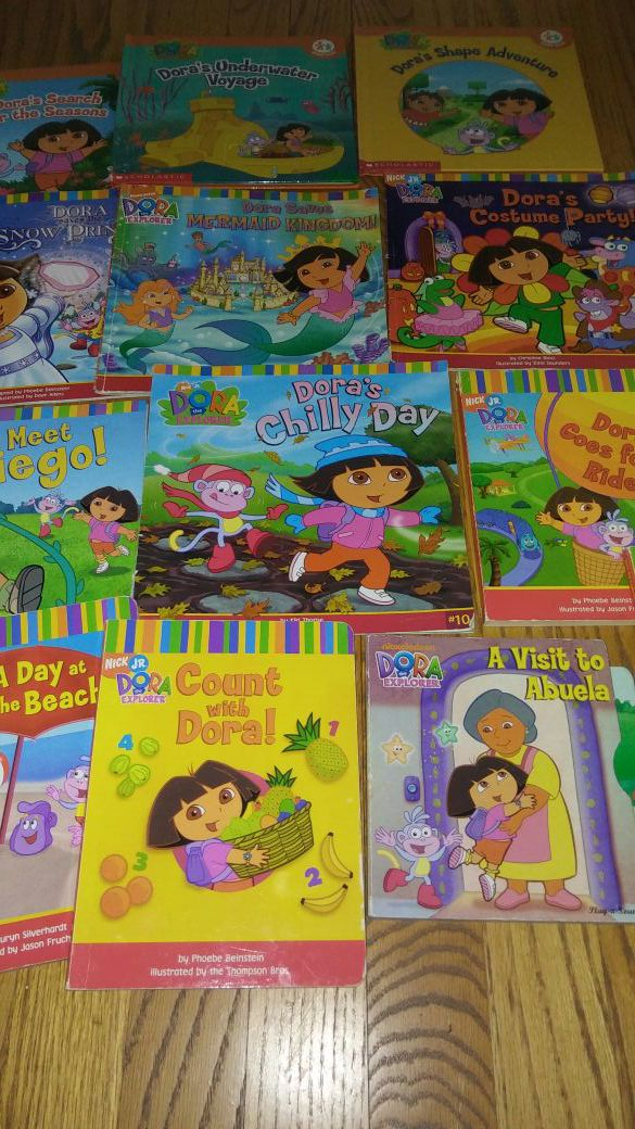 Lot of 13 Toddler Dora the Explorer Nick Jr. Scholastic Bilingual Books for  Sale in Fenton, MI - OfferUp