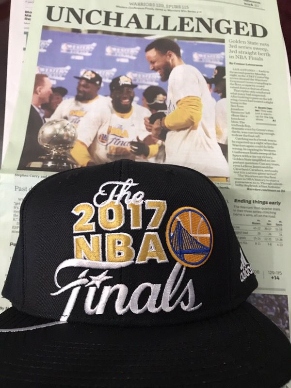 Golden state warriors adidas 2017 NBA finals hat for Sale in South ... d3875603662c