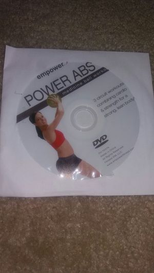 Workout DVD and 10lb Medicine Ball for Sale in Washington, DC