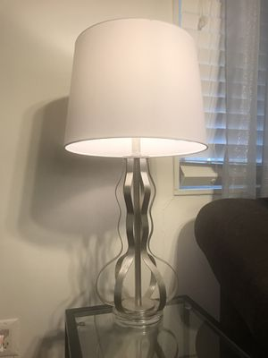 Modern table lamps 2 for $50/ white/silver/ shabby chic for Sale in Springfield, VA