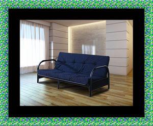 Black futon frame with mattress for Sale in Hyattsville, MD