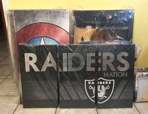 Raiders 3 piece split canvas for Sale in Riverbank, CA