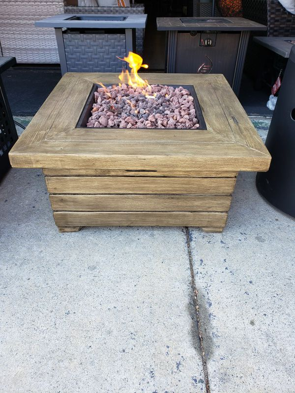 New outdoor patio furniture gas propane fire pit for Sale ...