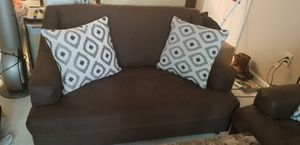 Dark brown couch and love seat set for Sale in Silver Spring, MD