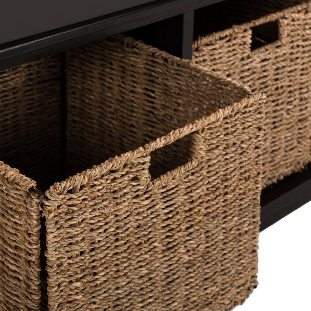 Lonan Black Storage Bench