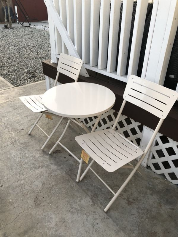 two folding chairs and one table 65 for sale in los angeles ca