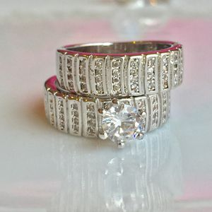 925 sterling silver plated sapphire ring wedding engagement ring band for Sale in Silver Spring, MD