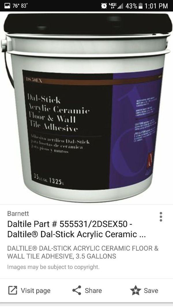 Dal Stick Tile Adhesive For Sale In Aurora CO OfferUp - Daltile aurora