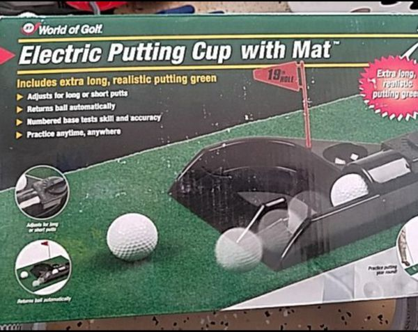 New Electric Putting Cup With Mat