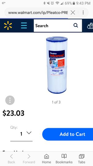 Prb50 hot tub filter new for Sale in Lake Bluff, IL