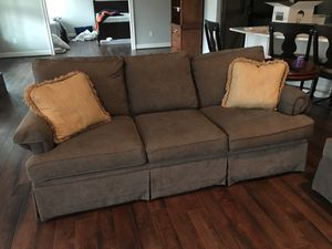 Two matching Bassett custom grey sofas for Sale in Midlothian, VA