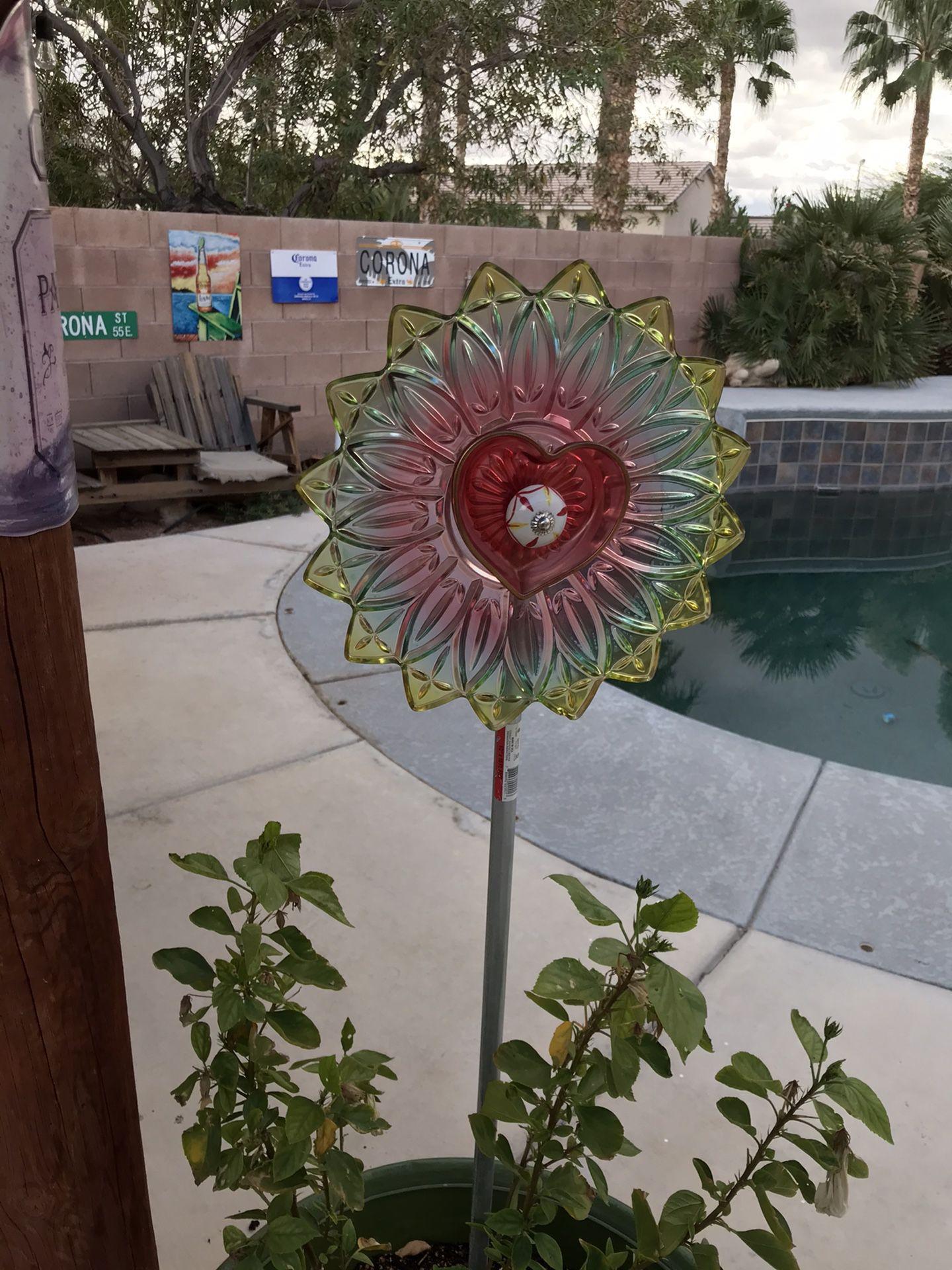 Vintage dishes garden art