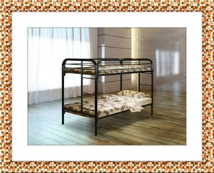 Twin bunk bed frame with free mattress and delivery for Sale in McLean, VA
