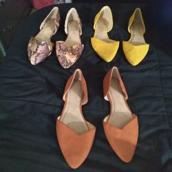 3 Nice Pair Of Womans Size 8 OLD NAVY Dress Sandals. All Same Style Just Different Colors  Thumbnail