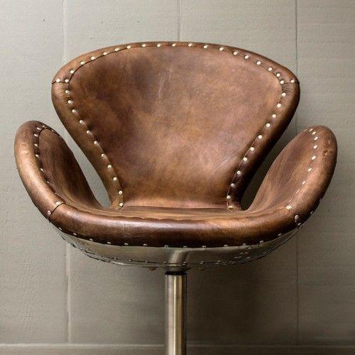 restoration hardware devon spitfire leather desk chair for sale in