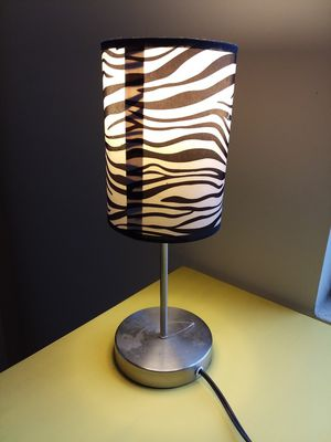 Table Zebra Print Lamp Shade Working For In Durham Nc
