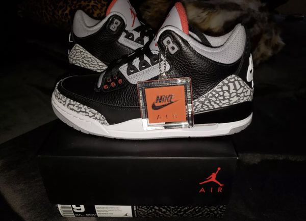 f119f88a2206 Nike air Jordan black cement 3 size 9 DS brand new for Sale in ...