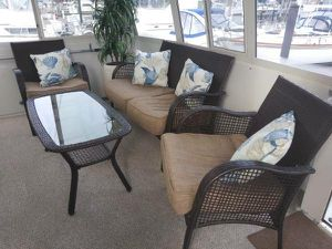 4 piece wicker furniture set with cushions an pillows for Sale in Essex, MD