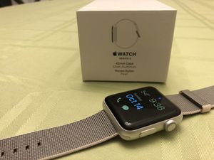 Apple Watch Series 2 (42mm, Aluminum, GPS) Mint condition with brand new nylon band and all original box and accessories! for Sale in Rockville, MD