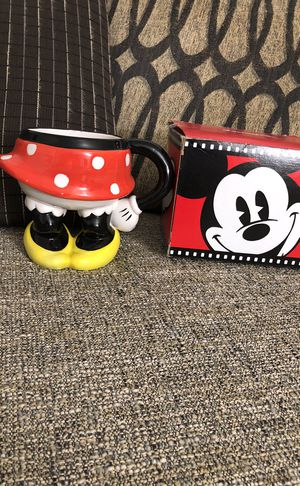 Minnie Mouse Red Polka Dot Dress Skirt Ceramic coffee mug. Please see all the pictures and read the description for Sale in Bailey's Crossroads, VA