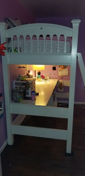 Bunkbed with attached desk and cabinet for Sale in Mount Airy, MD