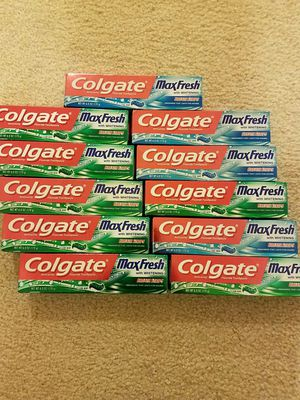 Colgate Maxfresh toothpaste - buy 10 get 1 free - $20 price firm for Sale in Rockville, MD