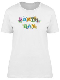 Smartprints Earth Day Textured Caption Tee Women's -Image by Shutterstock White Size L Thumbnail