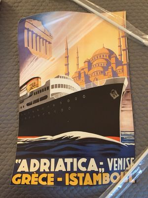 Adriatica vintage style travel poster for Sale in New York, NY