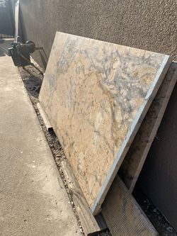 Granite bullnose countertop piece 54 X 26.5 with extra pieces Thumbnail