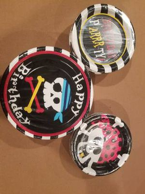 New Pirate Birthday Dinner and Dessert Plates and Napkins for Sale in Ashburn, VA