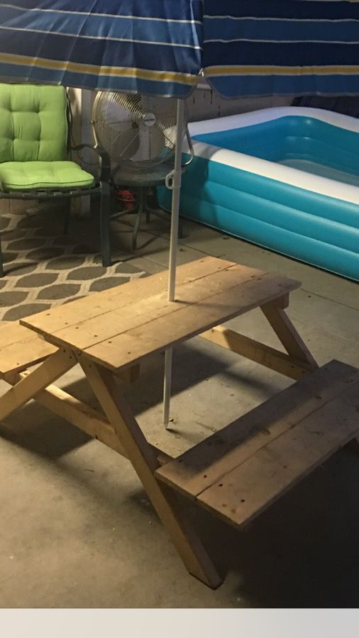 Kids Small Picnic Table In Great Condition Asking 60 Baby Azusa Ca Offerup