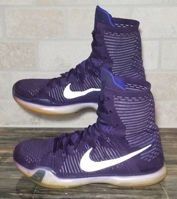 the latest 3feaa 9ddeb Nike Kobe X 10 Elite High Purple Ink Persian Violet Silver Size 12