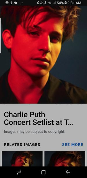 Charlie Puth Tickets PNC 7/28 for Sale in Cary, NC