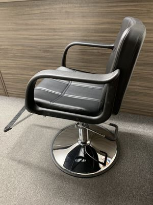 Photo New Barber shop chair Salon Hair Styling Makeup Swivel hydraulic adjustable black color 350lb capacity best chair