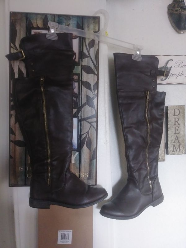 Brown Boots Wide Leg Size 81 2 New For Sale In Fresno