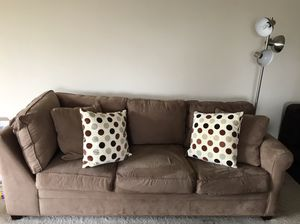 Tan Microfiber Couch for Sale in Falls Church, VA