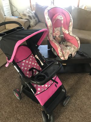 Minnie Mouse Stroller Cosco Car Seat W Flower Design Graco For