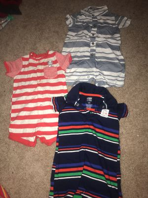 Carters size 12 months baby boy rompers $2 each or all for $5 for Sale in Alexandria, VA
