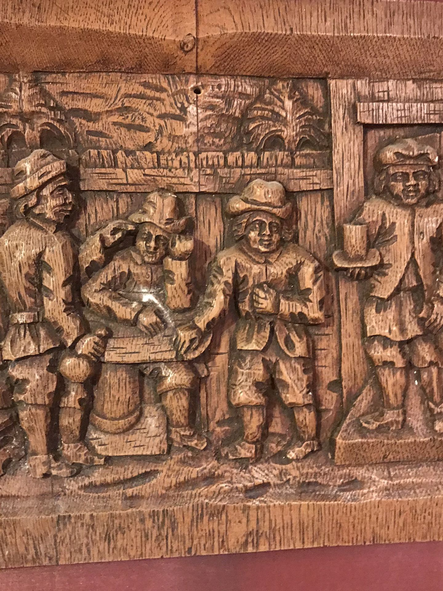 1700s bar scene Wall mount Carving