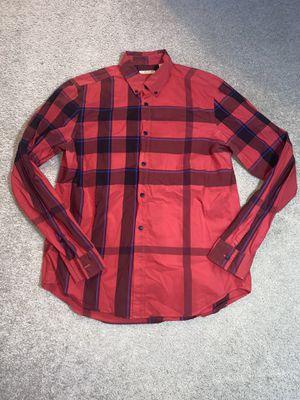 Photo Burberry Brit men's L red nova check shirt