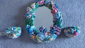 Sea life mirror and candle holders. for Sale in Scottsdale, AZ