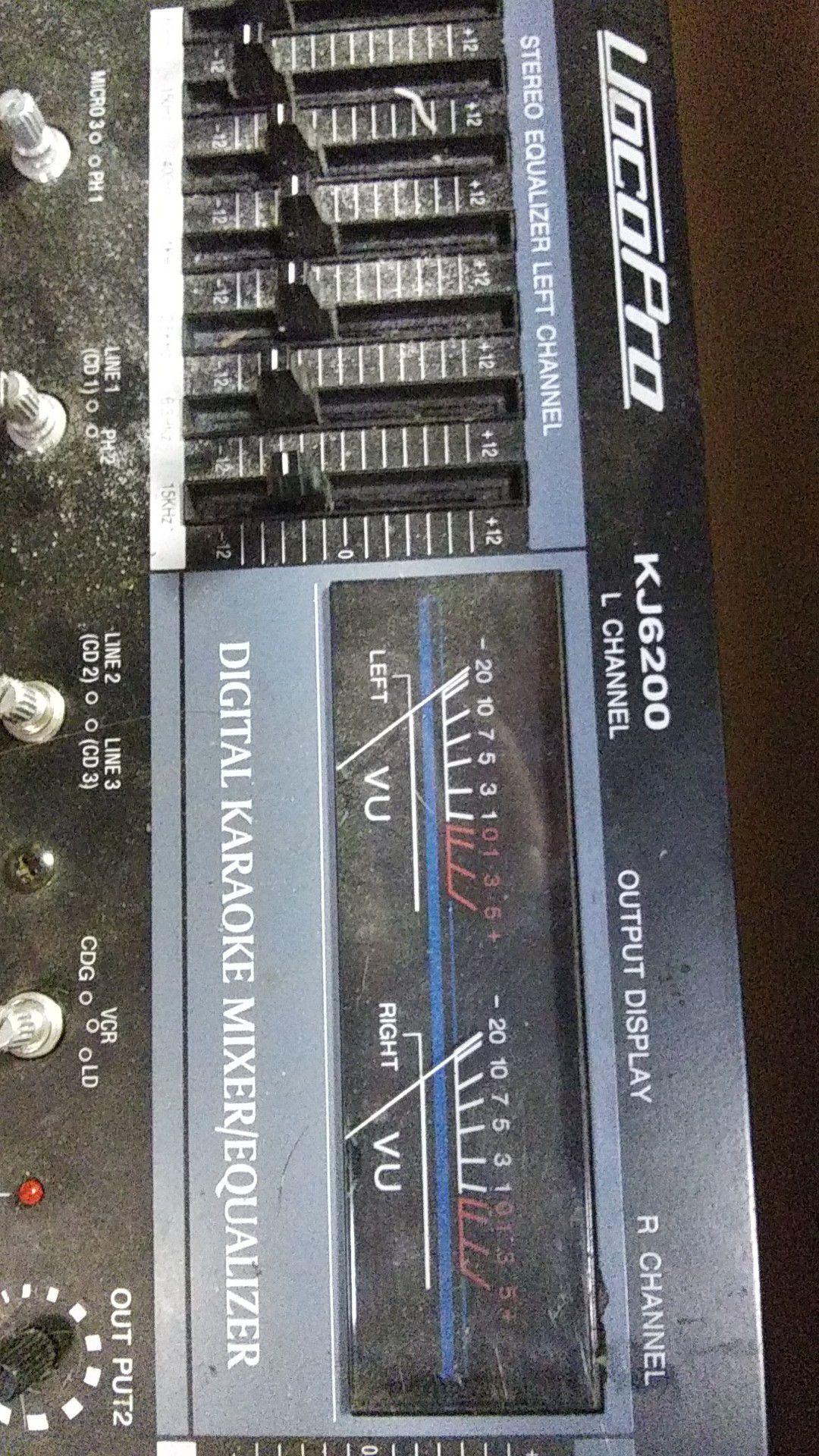 Vocopro digital karaoke mixer/EQ