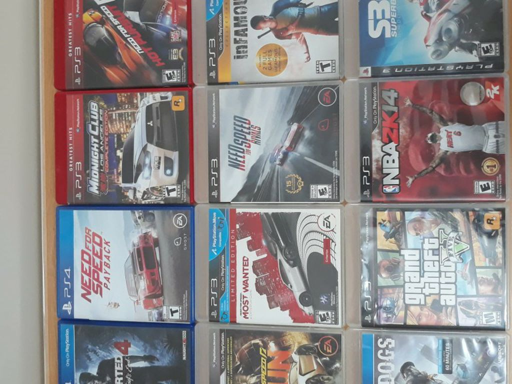 PS4 AND PS3 DISC FOR SELL